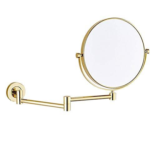 8 Pouces Miroir Mural Grossissant 10 Fois Extension Pliant - Double Face Normale et Grossissant x10-360 Degrés Rotation