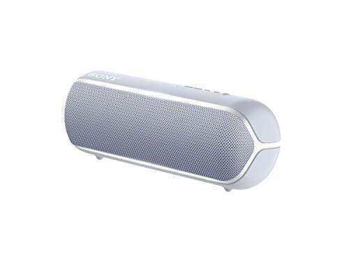 Sony SRS-XB22 kabelloser Bluetooth Lautsprecher (tragbar, farbige Lichtleiste, Extra Bass, Bluetooth, NFC, wasserabweisend, kompatibel mit Party Chain, Freisprechfunktion für Anrufe) grau