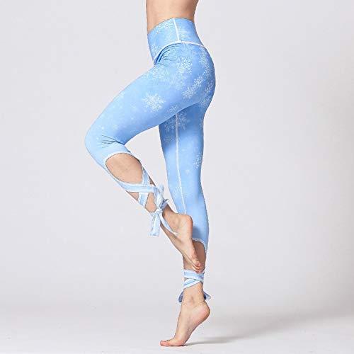 ATTHJAET Frauen Ballerina Yoga Hosen Bandage Kurz geschnittene Leggings Sporttanz Enge Leggings Fitness Cross Pants Laufhose Frau