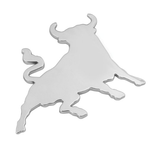 Pilot LA_07207 - Emblema decorativo en relieve, diseño de toro cromado