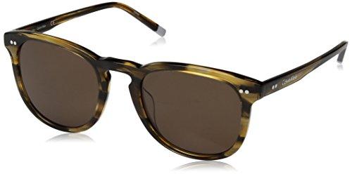 Calvin Klein CK4321S 231 51 Montures de lunettes, Marron (Striped Brown), Mixte Adulte