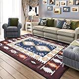 Rug Moderner Mittelmeerteppichsalon Kaffeetischmatte Schlafzimmerraum Voller Laden Haushalts-rechteckiger Nachttischteppich,coffeecolor,180cm×180cm