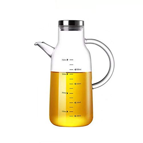xiaoshenlu Botella de dispensador de Aceite, Botellas de Aceite con Boquilla antigoteo, Mango Antideslizante para Cocina, 750 ml