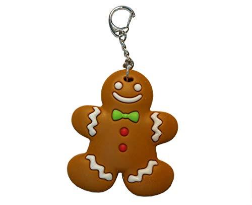 Miniblings Lebkuchenmann Schlüsselanhänger Lebkuchen Keks - Handmade Modeschmuck I I Anhänger Schlüsselring Schlüsselband Keyring