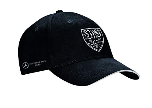 JAKO VfB Stuttgart Team Cap, schwarz/Silber, One Size - 2
