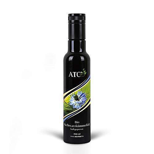 ATC Vital | BIO Schwarzkümmelöl kaltgepresst und gefiltert, reines Öl aus Nigella Sativa Samen, 250ml