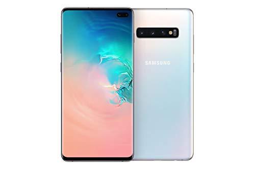 "Samsung Galaxy S10+ - Smartphone de 6.4"" QHD+ Curved Dynamic AMOLED, 16 MP, Exynos 9820, Wireless & Fast & Reverse Charging, 1 TB, Prisma Blanco (Prism White)"