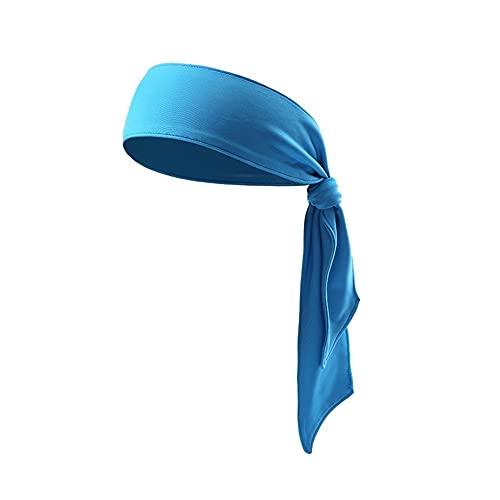 BANDANAS Hairband Head Tie Cabeza Deportes Diadema Corbata para correr Tenis Karate Atletismo Breve estilo hombres Mujer gimnasio cabeza banda (Color : Blue)