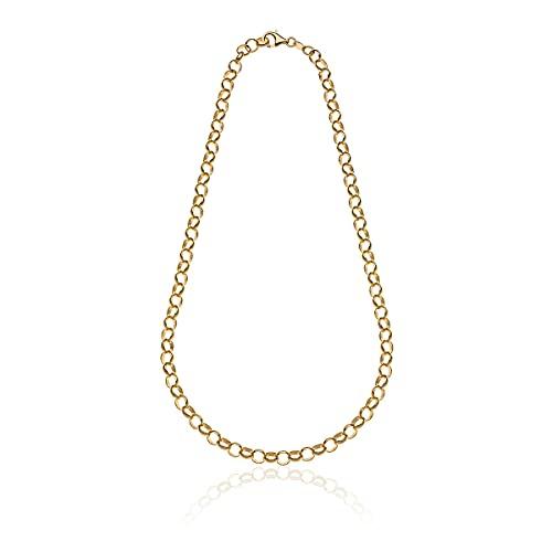 Joyas DOP - Collar Rolò Light para mujer de plata 925 dorada hecho a mano en Italia