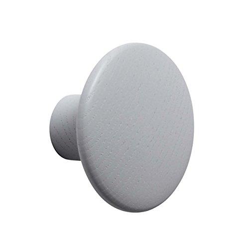 Muuto The Dots Coat Hook Grey Small - Ø9 cm