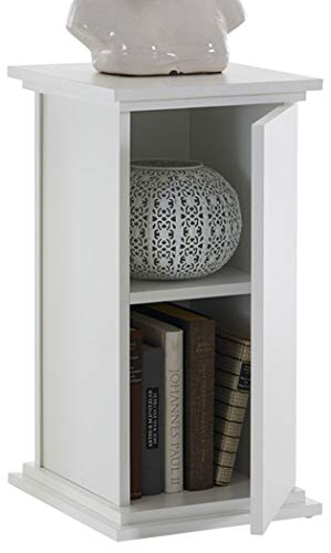 FMD Möbel Essex 1 Dekosäule Holz Weiß 30x30x58 cm