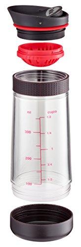 Tefal Ingenio K20730 Dressing Mixer 19 cm, Kunststoff/Silikon, schwarz-rot-transparent