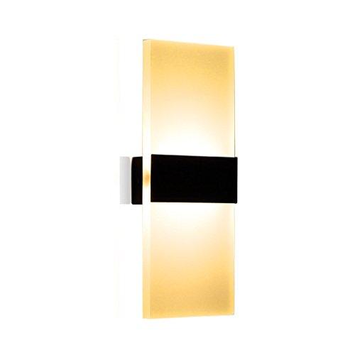 KUN PENG SHOP Modern Minimalist Creative Hotel Aisle Living Room Bedroom Wall Lamp A+ (Couleur : Noir)
