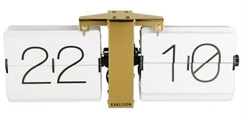 Karlsson - Reloj con Tapa (latón, sin Funda, Acero), Color Blanco