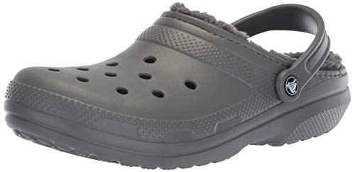 Crocs Classic Lined Clog, slate grey/smoke, 13 US Women / 11 US Men