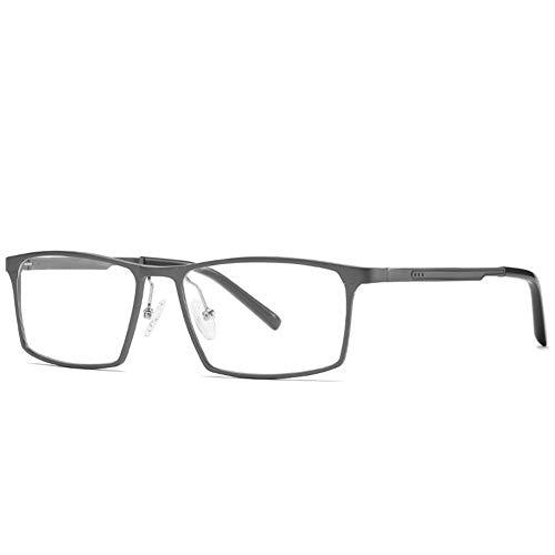Gafas de juegos con luz azul bloquean un nuevo estilo empresarial, marco de aluminio y magnesio, marco completo antiluz azul, funda y tela para gafas Gun Farbe Talla única
