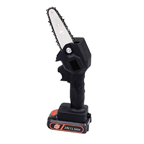 Mini Motosierra Sin Cuerda Handheld Eléctrico Recargable Saw Energía De La Batería para El Jardín Rama De Árbol De Madera De Poda (Enchufe De La UE) Herramientas Eléctricas