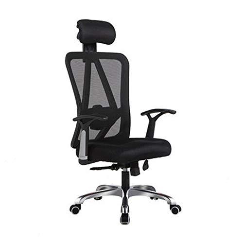 Silla resistente para computadora, silla ergonomica, silla moderna y minimalista para juegos, silla giratoria de oficina-black