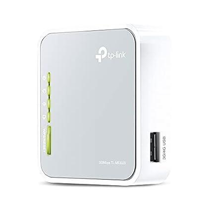 TP-Link TL-MR3020 - Router de viaje Wi-Fi portátil (3G/4G de 300 Mbps, Modo 3G/4G de soporte / modo de punto de acceso / modo cliente, sin necesidad de configuración, enchufe de la UE)