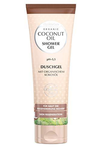 GlySkinCare Duschgel mit Organischem Kokosöl, Duschgel Für trockener Haut Vorgesehen, Duschgel 250 ml mit Kokos Duftstoff, Gel by Equalan Pharma.