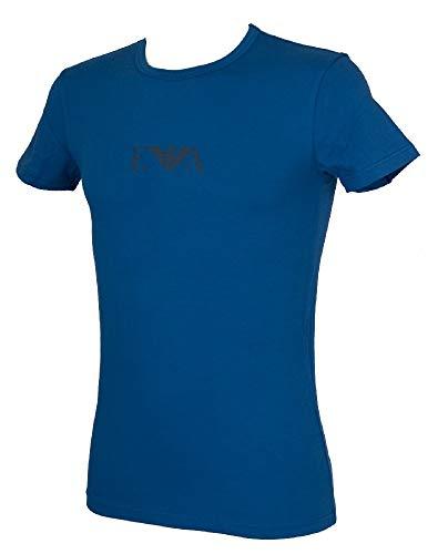 Emporio Armani T-Shirt Maglietta Uomo Girocollo Manica Corta Articolo 111035 9A715, 26433 Royal Blue, M