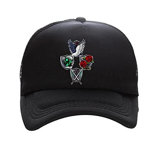 YUANYUAN Gorras de malla para hombre Atta_ck en Ti_tan Gorra de béisbol Gorras de deporte Gorra casual Snapback Sombrero de sol Escalada Senderismo Pesca Gorras de viaje Headwear