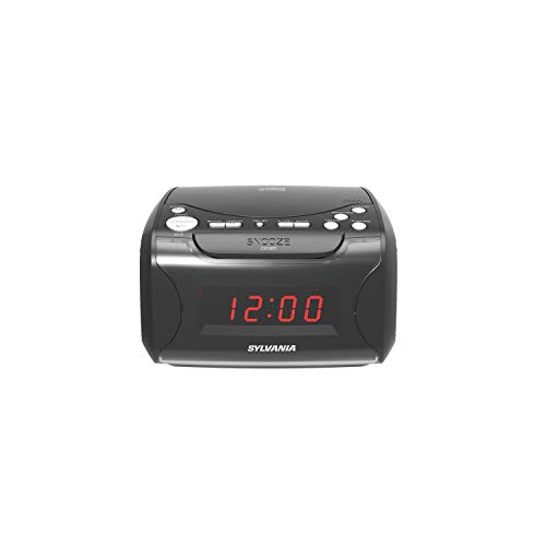 Sylvania Scr4986 USB-Charging Cd Dual Alarm Clock Radio 9.40in. x 8.40in. x 5.70in.