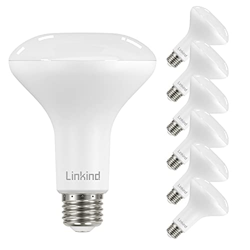 Linkind BR30 Dimmable LED Bulb, 8W (65 Watt Equivalent) Recessed Bulb, 2700K Soft White, 680 Lumens, Flood Light Bulb for Recessed Cans, E26 Base UL Listed FCC Certified, Pack of 6