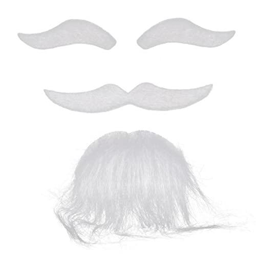 3 Unids Navidad Santa Bigote Disfraces Autoadhesivo Cejas Beard Bigache Kit Pelo Cosplay Props
