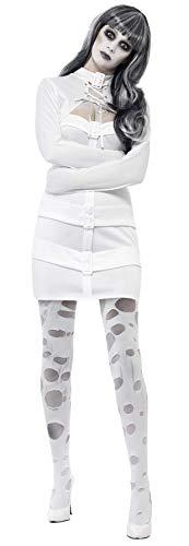 Smiffys, Damen Zwangsjacken Kostüm, Kleid mit Winkelarmen und Mock-Bolero, Größe: M, 33287