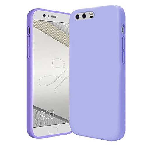 Jancyu Compatibile con Cover Huawei P10 Plus, Custodia Huawei P10 Plus Silicone, Full Body Protettiva Slim Antiurto Case Nera Rosa...