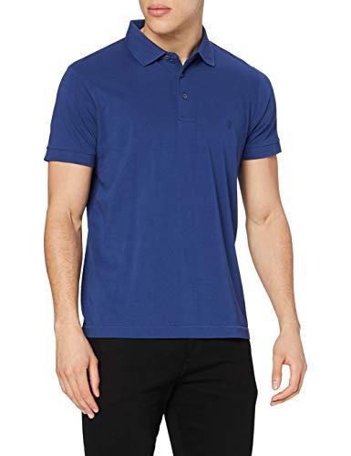 French Connection Herren S66 Fc Basic Sneezy S/S F Logo T-Shirt, Blau (Französisch Blau/Marine 64), XL