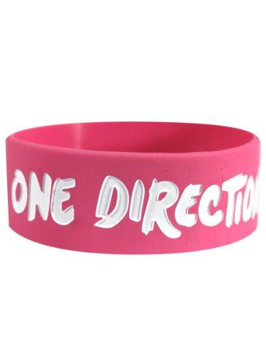 One Direction - Pulsera de goma de silicona con diseño de beso