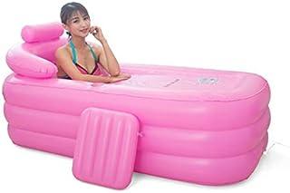 WUPYI2018 Baignoire Gonflable,Pliantes Baignoires PVC pour Adultes,Dimensions : 160cm*82cm*75cm (Rose)