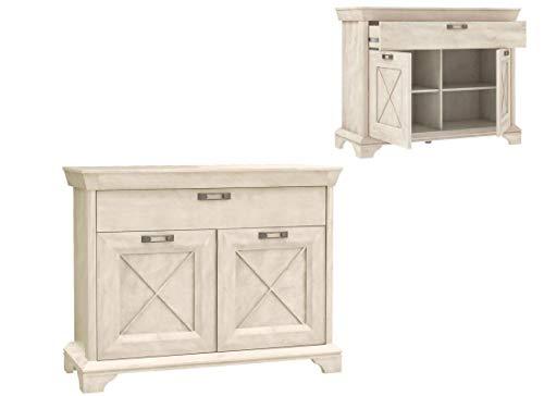 Furniture24 Kommode Kashmir KSMK223, Sideboard, Wohnzimmerschrank mit 2 Türen und 1 Schublade