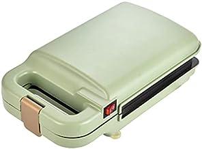 Elektrische sandwichbakmachine, ontbijtmachine, broodmachine, multifunctionele kookmachine (kleur: groen, plug type: UK)