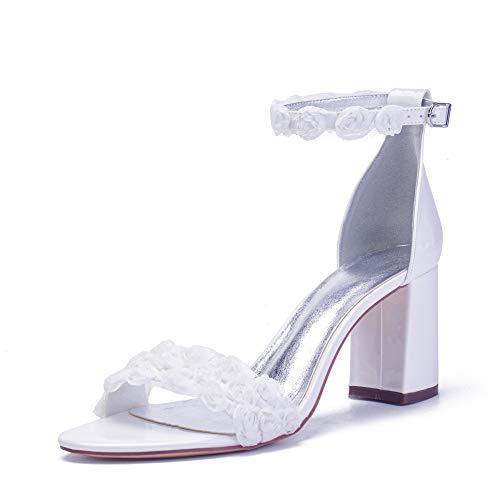 LGYKUMEG Zapatos de Boda de Las Mujeres de Rhinestones Plataforma Zapatos De...