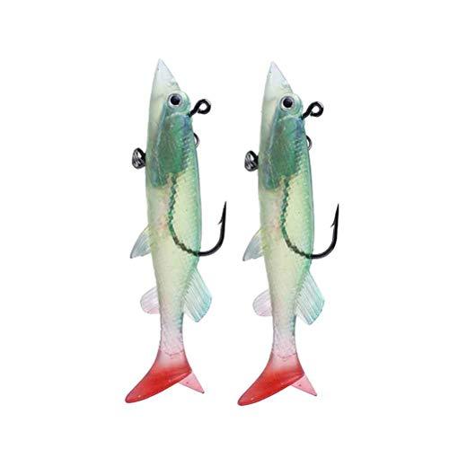 LIOOBO La Pesca de la Pesca de la Comida de la simulación de 26g / 12cm engaña los cebos para Pescar 2pcs