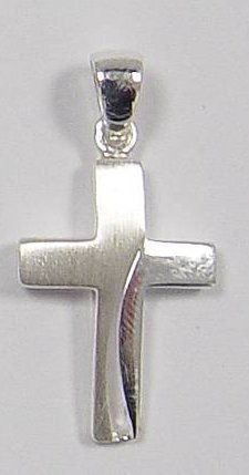 MaMeMi zilveren kruisje 3390 met ketting 3460-45 cm