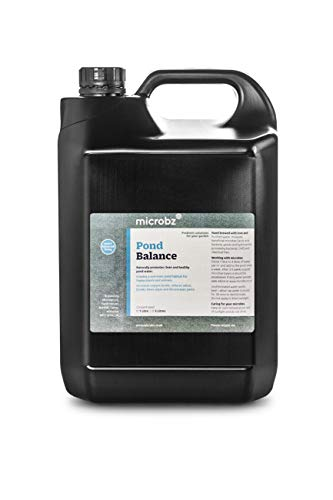 Microbz Pond Balance - 100% Natural Bio Live Cultures & Vital Minerals (5 Litre) Billions Of Beneficial Microbes, Decomposes Persistent Substances In Water, Reduce Nitrates And Increase Oxygen Levels.