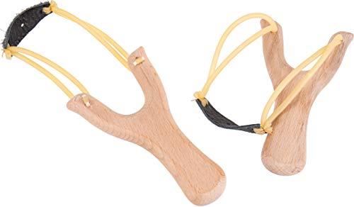 Steinschleuder Sportschleuder Zwille Sling Shot aus Buche ideal für Sport, Jagd, Angeln oder Baumpflege