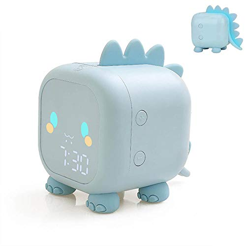 VABOO Despertador Digital, Reloj Despertador Digital para Niños, Luz Despertador Simulación de Amanecer y Atardece Wake up Light, 2 Alarmas, Función Snooze,Despertador Infantil con Luz de Noch
