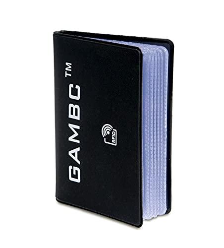 GAMBC - Porta tarjetas de crédito con Rfid Protection para proteger tarjetas de crédito sin contacto, para hombre y mujer, de plástico semirrígido para 10 tarjetas