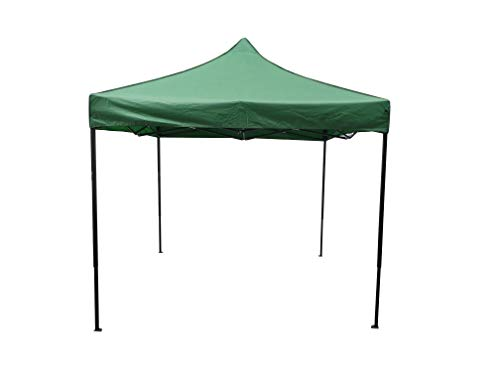 Heatwave Gazebos 3x3 or 2.5mx2.5m Waterproof and 100% Solid Metal frame Pop up Garden Gazebo (3x3m, Dark Green)