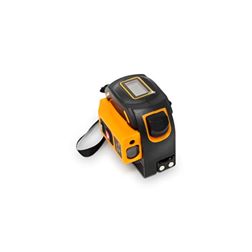 Laser Tape Measure 2-in-1, Laser Measure 196 Ft, Tape Measure 16 Ft Metric and US units with LCD Digital Display, Movable Magnetic Hook, Unit Conversion, Sturdy Build, Consistent and Accurate