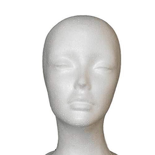 OMMO LEBEINDR Weiblicher Styroporschaum Mannequin Manikin Kopf Modell Perücke Haar Glas Hut Anzeige
