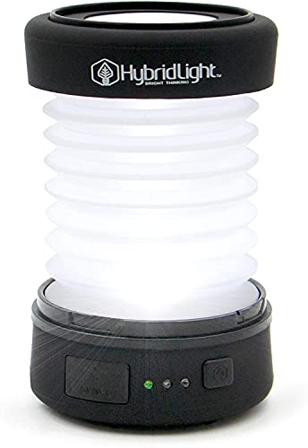 Hybridlight Solar Rechargeable Expandible Lantern/Cell Phone Charger. 150 Lm. Built In Solar Panel