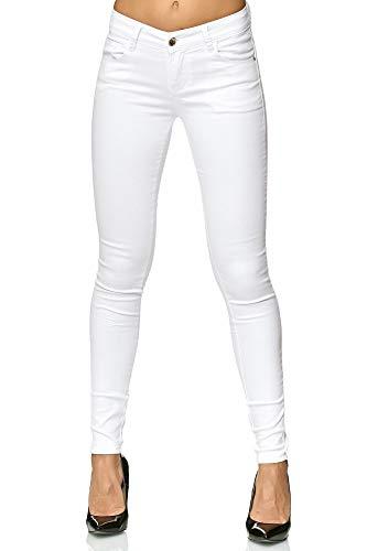 Elara Damen Stretch Hose Push Up Jeans Gummizug Chunkyrayan YF 2620 46 (3XL)