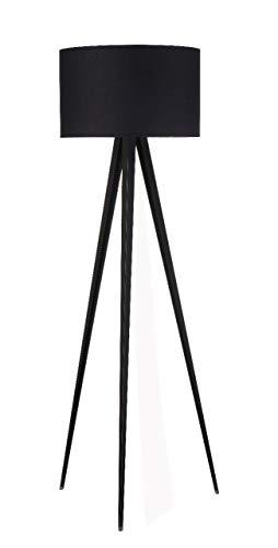 Modernluci Stehlampe Stativ nobel Tripod, Stehleuchte Standleuchte für Wohnzimmer Schlafzimmer Büro Empfang, Skandinavischer Stil, 150 cm Höhe
