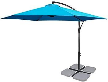 Fruiteam 10FT Patio Offset Cantilever Umbrella